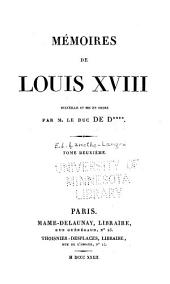 Mémoires de Louis XVIII: Volume 2