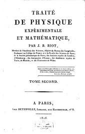 Traité de physique expérimentale et mathématique: Volume2