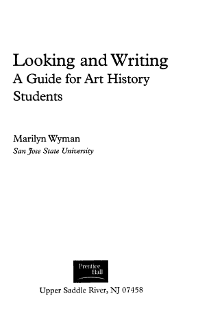 Looking and Writing PDF