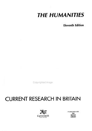 Current Research in Britain PDF