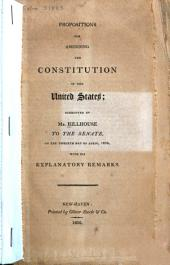 Propositions for Amending the Constitution of the United States