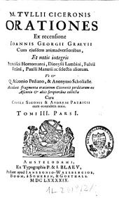 M. Tullii Ciceronis Orationes