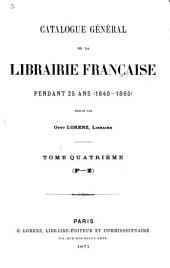Catalogue général de la librairie française: 1922-1925. Tables des matières: Volume4;Volume34
