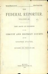 The Federal Reporter: Volume 40