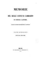 Memorie dell'Istituto lombardo-accademia di scienze e lettere: Classe di scienze matematiche e naturali, Volume 14