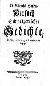 Versuch Schweizerischer Gedichte. Dritte vermehrte ... Auflage