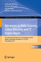 Advances in Data Science  Cyber Security and IT Applications PDF