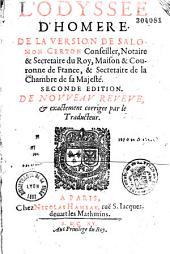L'Odyssée d'Homère... de la version de Salomon Certon,...