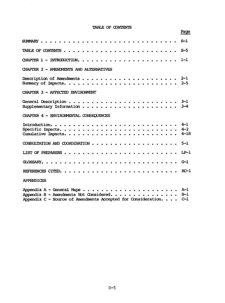 Proposed 1984 Plan Amendments to the California Desert Conservation Area Plan of 1980
