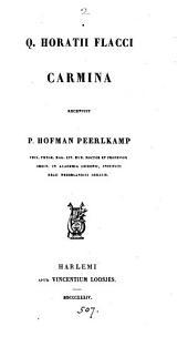 Q. Horatii Flacci carmina, recens. P.H. Peerlkamp