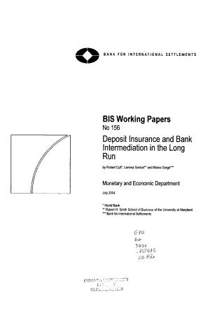 Deposit Insurance and Bank Intermediation in the Long Run PDF