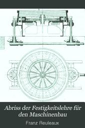 Abriss der Festigkeitslehre für den Maschinenbau