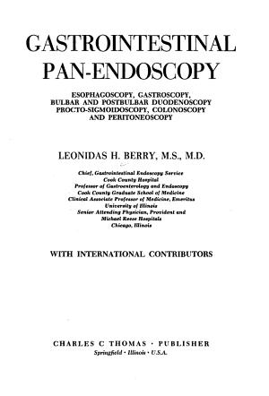 Gastrointestinal Pan endoscopy PDF