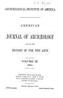 The American Journal of Archaeology and of the History of the Fine Arts PDF