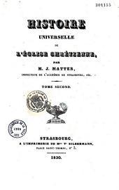 Histoire universelle de l'église chrétienne: considérée principalement dans ses institutions et dans ses doctrines