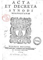 Acta et decreta Synodi Neapolitanae
