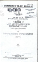 Reauthorization of the Adult Education Act PDF