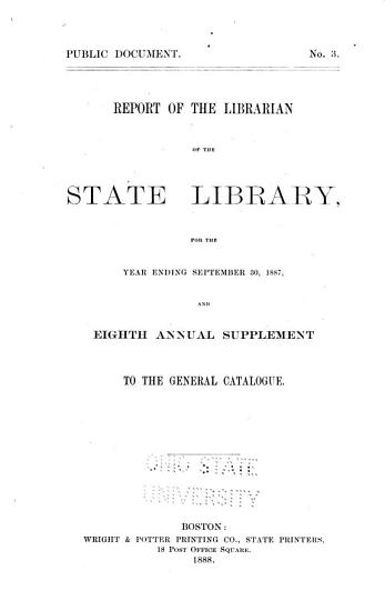 Report of the Librarian of the State Library of Massachusetts PDF