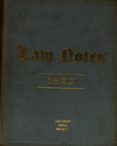 Law Notes: Volume 18