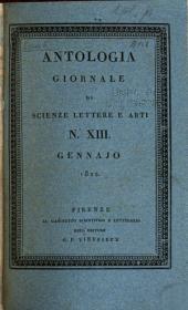 Antologia; giornale di scienze, lettere e arti: Volume 5