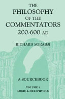 The Philosophy of the Commentators  200 600 AD PDF