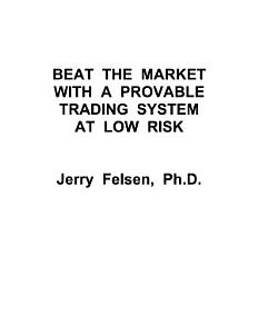 Beat the Market with a Provable Trading System at Low Risk PDF