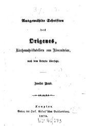 Bibliothek der Kirchenväter0: eine Auswahl patristischer Werke in deutscher Übersetzung, Band 39