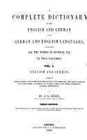 Vollst  ndiges englisch deutsches und deutsch englisches W  rterbuch  bearb  von J  G  Fl  gel  N  N  W  Meissner   PDF