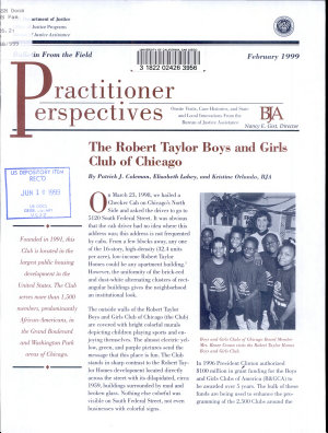 The Robert Taylor Boys and Girls Club of Chicago