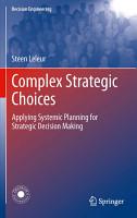 Complex Strategic Choices PDF