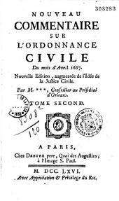 Nouveau commentaire sur l'ordonnance de 1667 (avril)