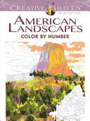 Creative Haven American Landscapes Color by Number Coloring Book