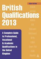 British Qualifications 2013 PDF