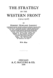 The Strategy on the Western Front (1914-1918)