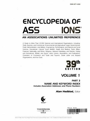 Encyclopedia of Associations  Volume 1 PDF