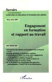 Engagement en formation et rapport au travail: Hors-série