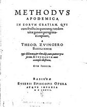 Methodus apodemica: in eorum gratiam, qui cum fructu in quocunq[ue] tandem vitae genere peregrinari cupiunt