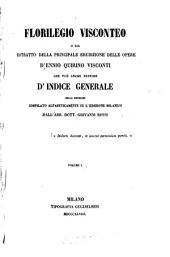Florilegio Visconteo: o sia estratto della principale erudizione delle opere d'Ennio Quirino Visconti ...