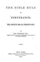 The Bible Rule of Temperance