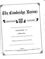 The Cambridge Review PDF