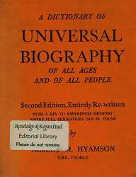 A Dictionary of Universal Biography of All Ages of All Peoples PDF