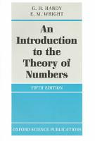 An Introduction to the Theory of Numbers PDF