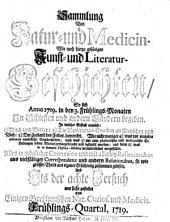 Sammlung von Natur- und Medicin- wie auch hierzu gehörigen Kunst- und Literatur-Geschichten so sich von 1717-26 in Schlesien und anderen Orten begeben ... und als Versuch ans Licht gestellet: Band 8