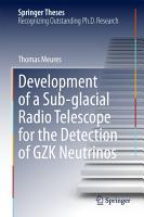 Development of a Sub glacial Radio Telescope for the Detection of GZK Neutrinos PDF