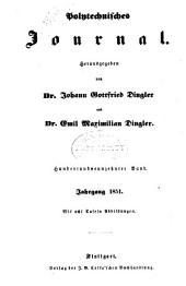 Dinglers polytechnisches journal: Band 119