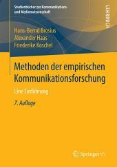Methoden der empirischen Kommunikationsforschung: Eine Einführung, Ausgabe 7