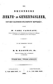 De bijzondere ziekte- en genezingsleer uit een klinisch standpunt bewerkt: Volume 3