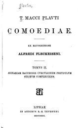 T. Macci Plavti Comoediae: Asinariam, Bacchides, Cvrcvlionem, Psevdvlvm, Stichvm complectens