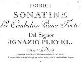 Dodici sonatine per cembalo, o piano forte