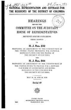 National Representation and Suffrage for the Residents of D C  PDF